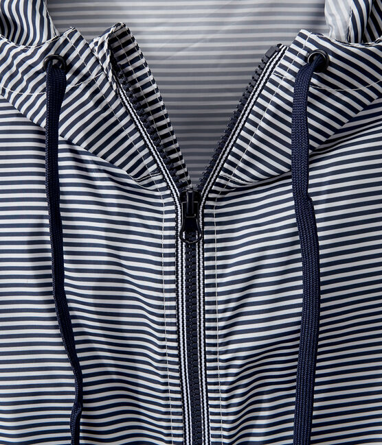 Cortavientos corto unisex azul Smoking / blanco Marshmallow