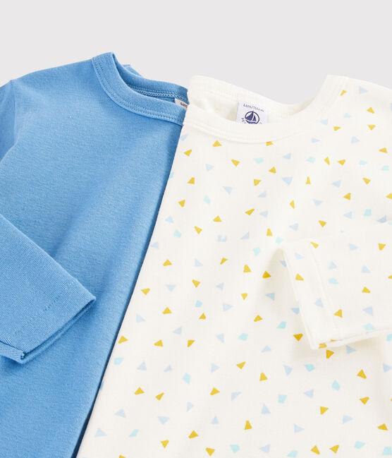Juego de 2 camisetas de manga larga con estampado geométrico de niño pequeño lote .