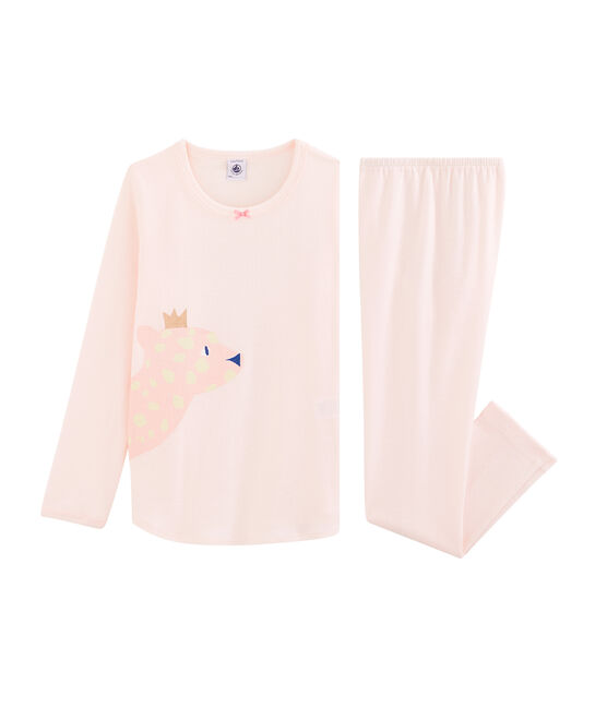 Pijama de punto para niña FLEUR