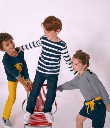 Jersey marinero infantil para niño blanco Marshmallow / azul Smoking