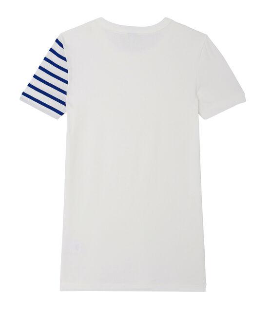 Camiseta en punto original de fantasía para mujer blanco Ecume