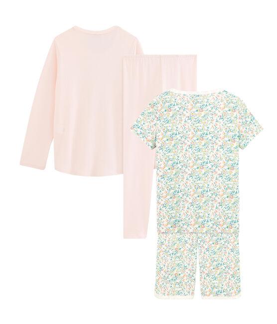Dúo de pijama corto y pijama para niña lote .