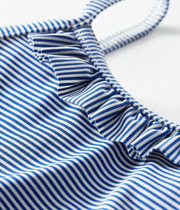 Traje de baño UPF 50+ para bebé niña azul Surf / blanco Marshmallow