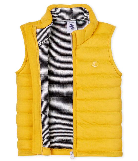 Chaleco de tela túbica acolchada para bebé unisex amarillo Boudor
