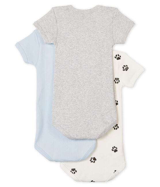 Trío de bodis de manga corta para bebé niño lote .