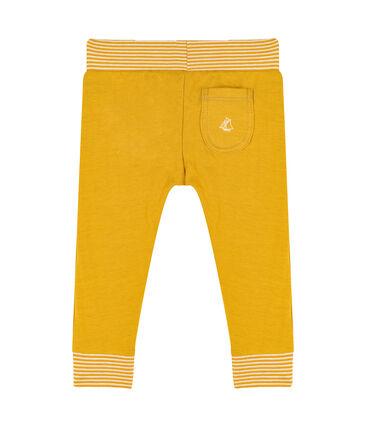 Pantalón de tela túbica para bebé amarillo Boudor