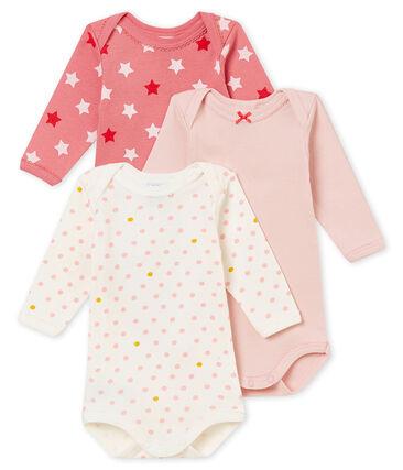 Trio de bodis de manga larga para bebé niña