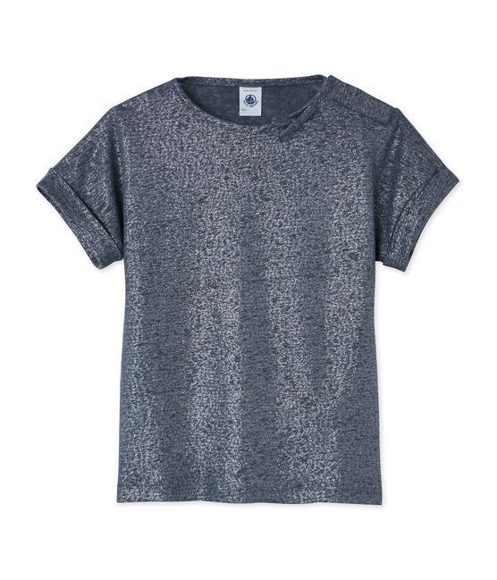 Camiseta para niña gris Maki / gris Argent