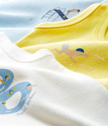 Tres bodis sin mangas para bebé niño
