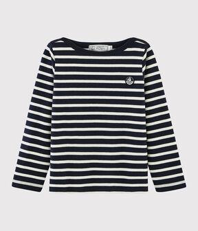 Marinera de punto de niña/niño azul Smoking / blanco Marshmallow