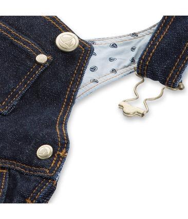 Vestido peto bebé niña en jean