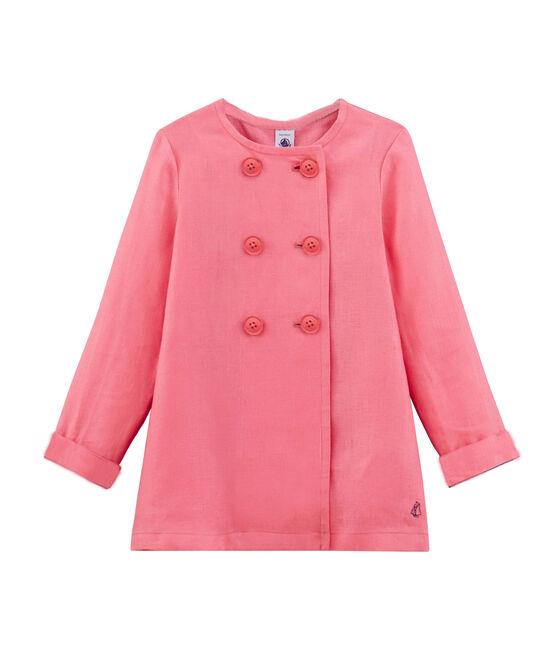 Chaqueta infantil para niña rosa Cupcake