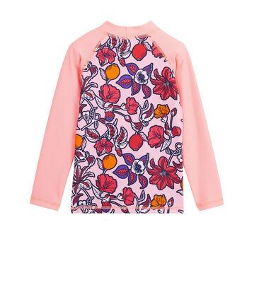 Conjunto de camiseta y braguita con protección solar para niña rosa Patience / blanco Multico