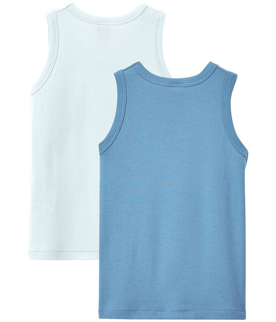 Lote de 2 camisetas sin mangas lisas para niño lote .