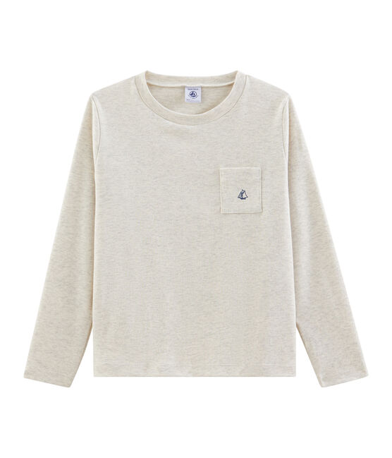 Camiseta de manga larga para niño gris Montelimar Chine