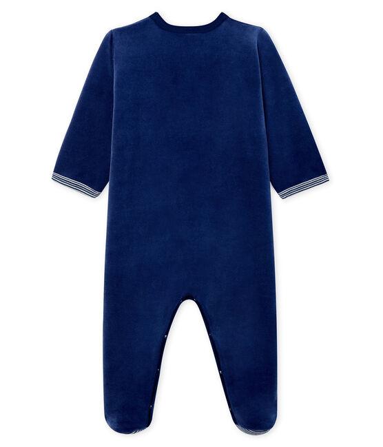 Pijama de terciopelo para bebé niño azul Medieval
