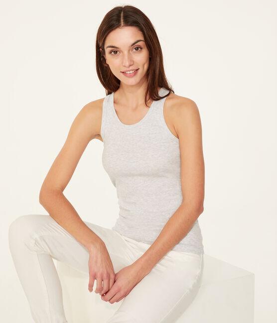 Camiseta de tirantes para mujer gris Poussiere Chine