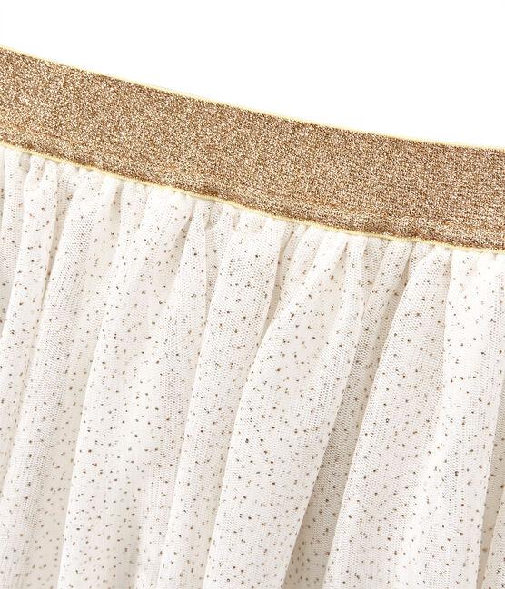 Falda para niña blanco Marshmallow / amarillo Dore