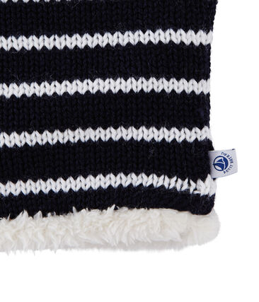 Cuello infantil mixto azul Smoking / blanco Marshmallow