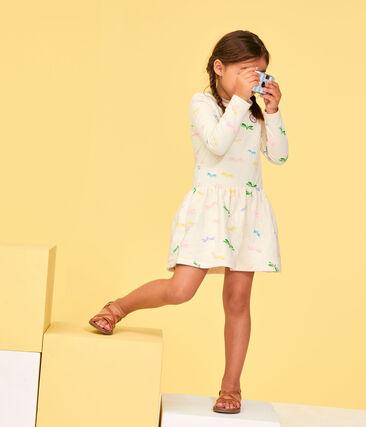 Vestido de niña beige Coquille / blanco Multico