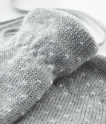 Manopla para bebé unisex con forro polar gris Subway / blanco Marshmallow