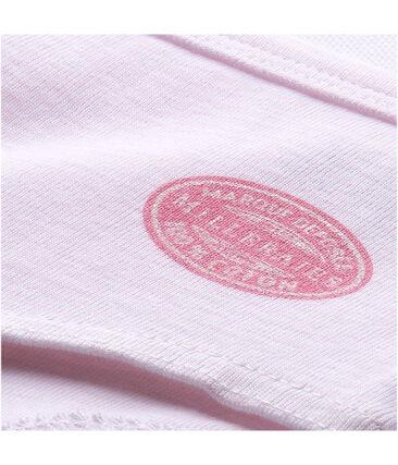 Bóxer de milrayas para niña rosa Vienne / blanco Ecume