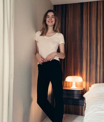 Camiseta manga corta de algodón ligero para mujer
