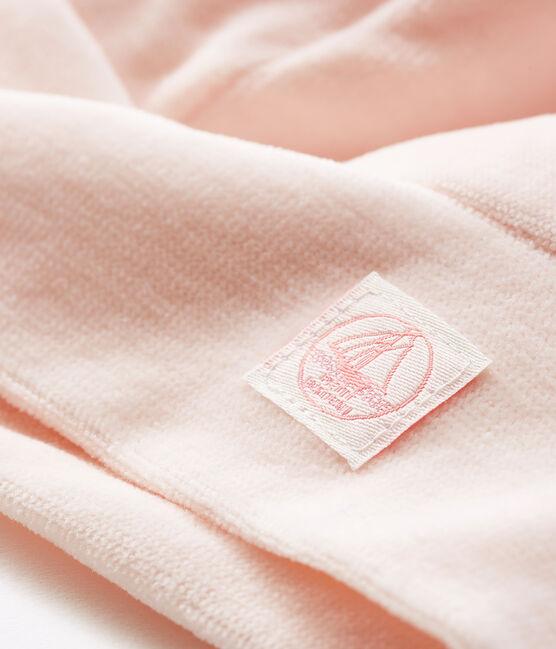 Gorro de recién nacido de terciopelo rosa Fleur