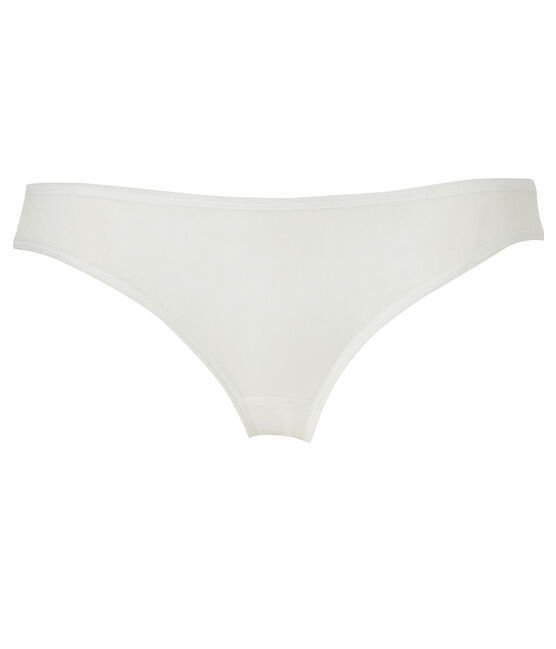 Braguita de algodón ligero para mujer blanco Lait