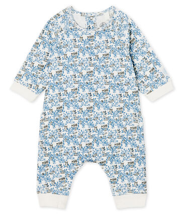 Combinación larga de bebé niño de punto blanco Marshmallow / blanco Multico