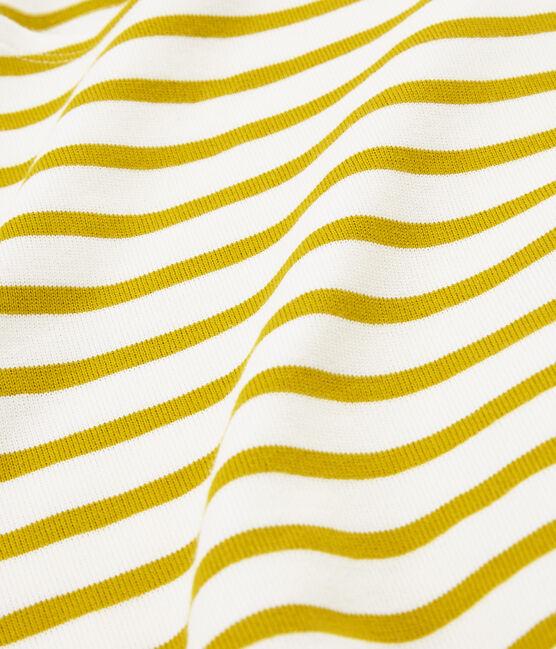 Jersey marinero icónico para hombre blanco Marshmallow / amarillo Bamboo