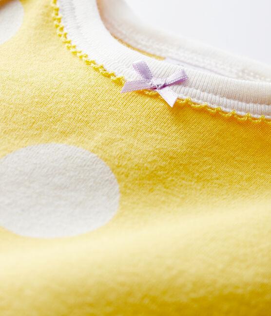 Pelele de punto acanalado sin botones de presión amarillo Ble / blanco Ecume