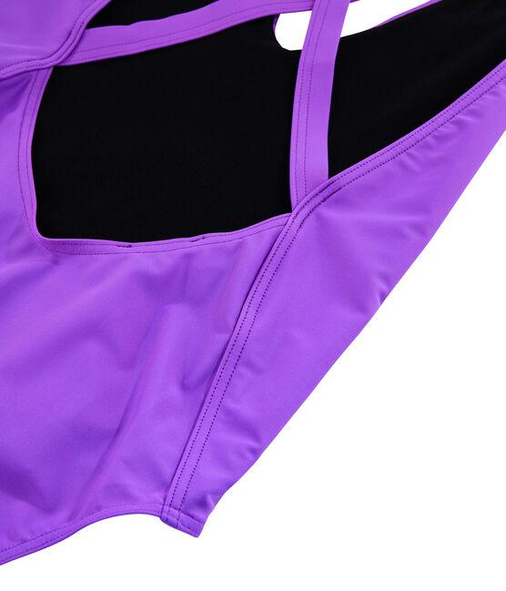 Traje de baño de 1 pieza ecorresponsable para mujer violeta Real