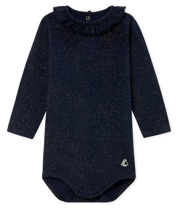 Body de manga larga estampado con cuello isabelino para bebé niña