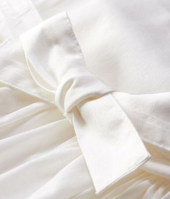 Vestido de manga corta de satén para bebé niña blanco Marshmallow