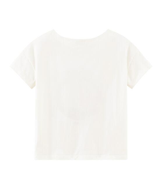 Camiseta manga corta para mujer blanco Marshmallow