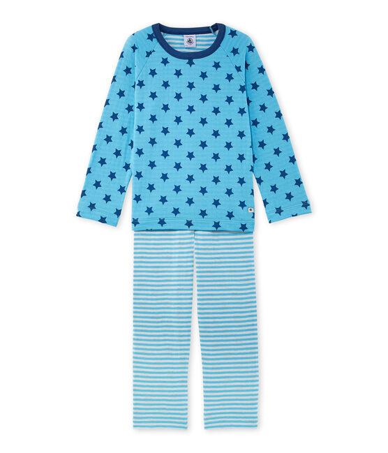 Pijama de túbico estampado / de rayas para niño azul Ibiza / azul Major