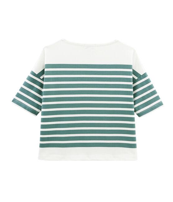 Camiseta marinera para mujer azul Brut / blanco Marshmallow
