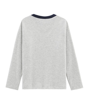 Camiseta de manga larga serigrafiada para niño gris Beluga