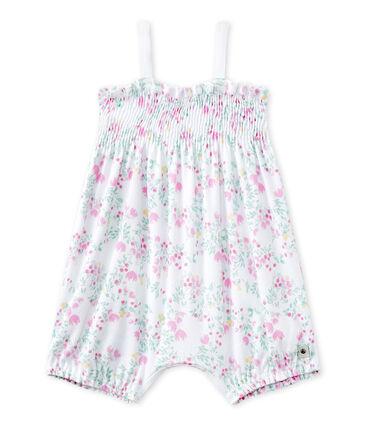 Pelele corto con bordado estampado para bebé niña