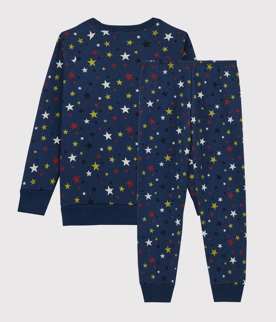 Pijama infantil con estrellas de felpa azul Medieval / blanco Multico