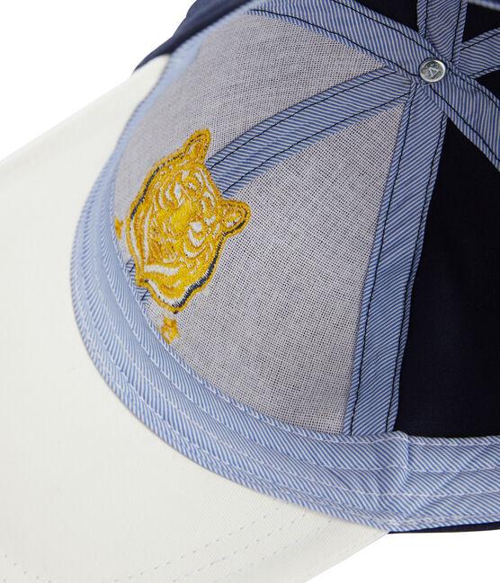 Gorra de sarga niño blanco Marshmallow / azul Smoking