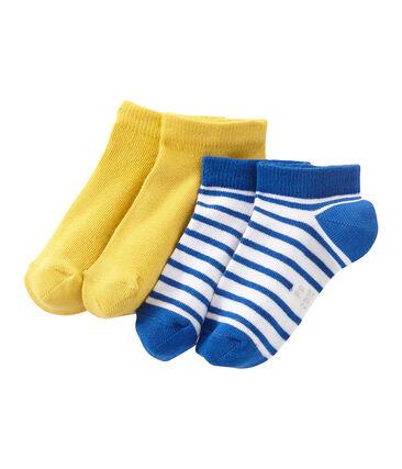 Lote de 2 pares de calcetines cortos para niño