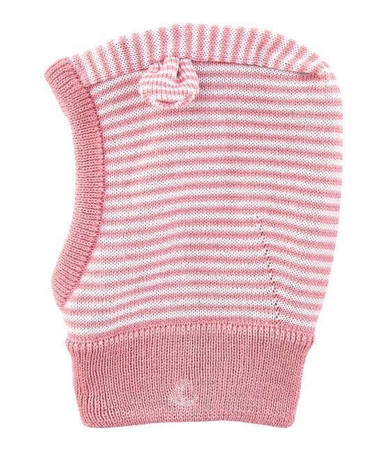 Pasamontañas para bebé unisex rosa Charme / blanco Marshmallow