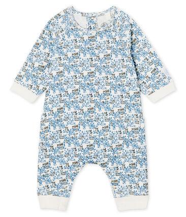 Combinación larga de bebé niño de punto blanco Marshmallow / blanco Multico Cn