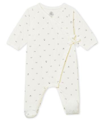 Pijama con apertura cruzada para bebé mixto