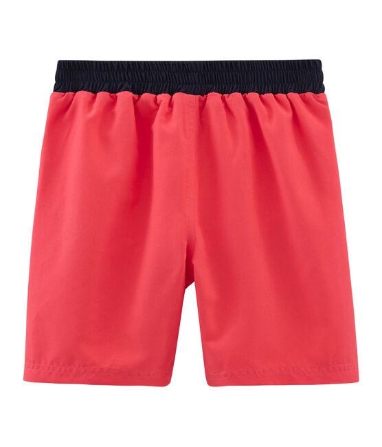 Shorts de playa infantiles para niño rosa Groseiller
