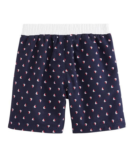 Shorts de playa infantiles para niño azul Submarine / blanco Multico