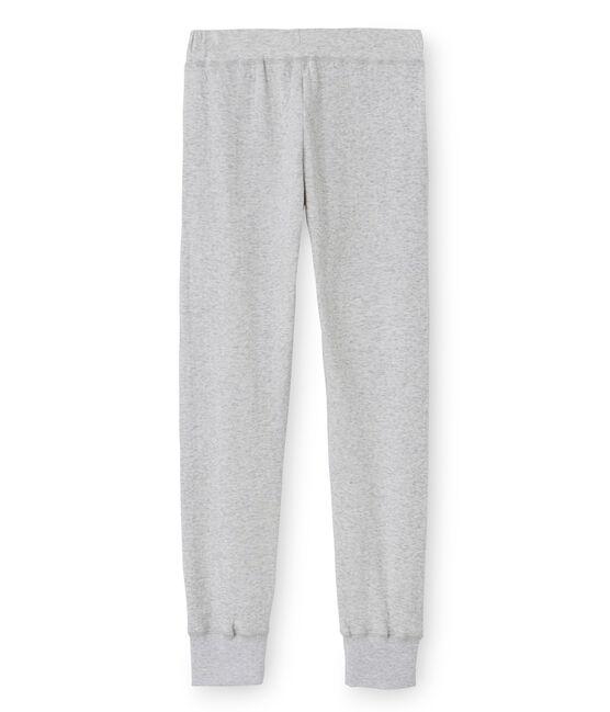 Pantalón para mujer en túbico extrafino gris Poussiere Chine