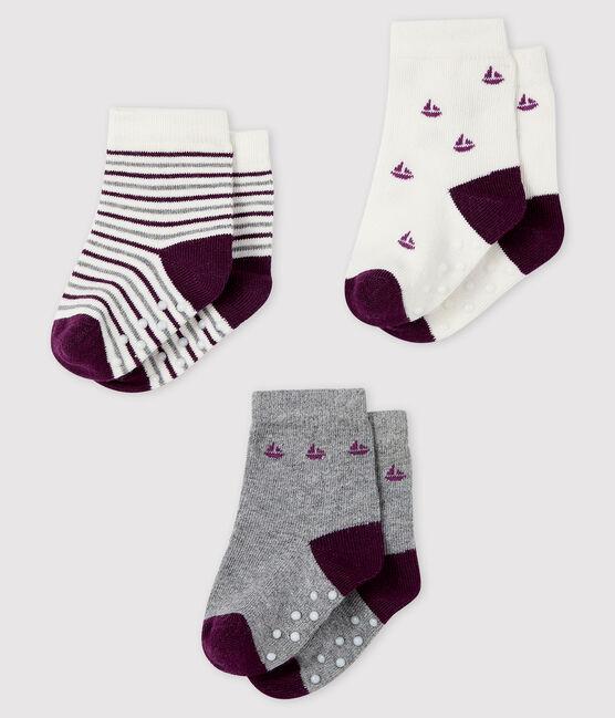 Juego de 3 pares de calcetines para bebé lote .
